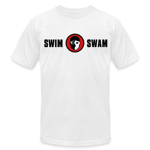 SwimSwam Classic Men's American Apparel (White) - Men's  Jersey T-Shirt