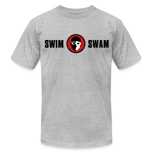 SwimSwam Classic Men's American Apparel (Grey) - Men's T-Shirt by American Apparel