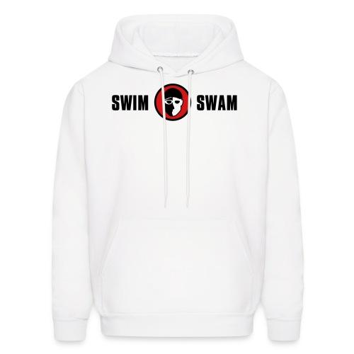 SwimSwam Classic Men's Hoodie (White) - Men's Hoodie