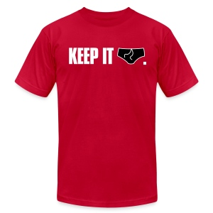 Keep It Brief American Apparel Tee (Red) - Men's T-Shirt by American Apparel