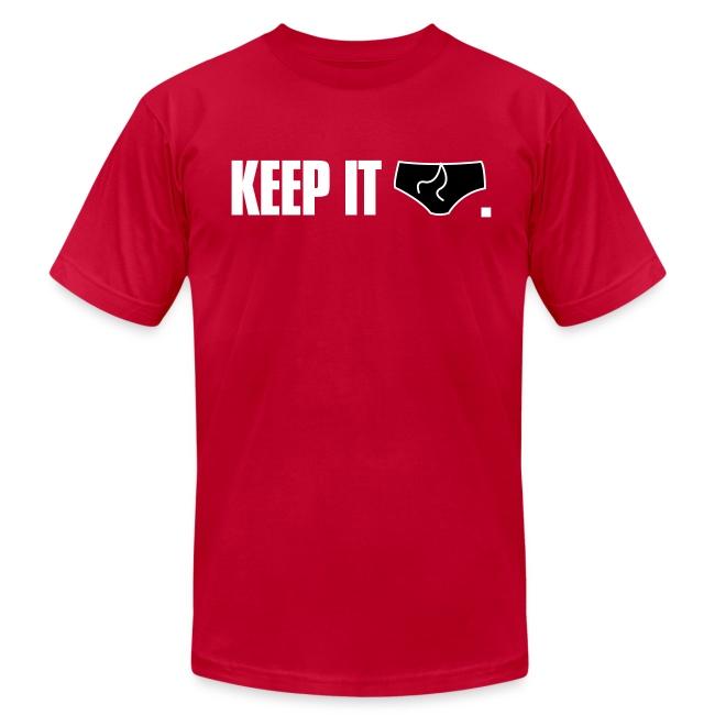 """""""Keep It Brief"""" American Apparel Tee (Red)"""