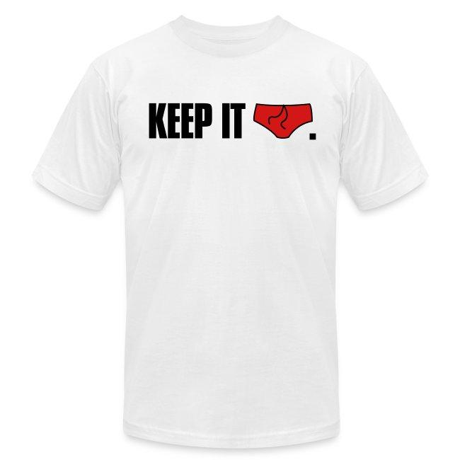 """Keep It Brief"" American Apparel Tee (White)"