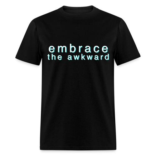 guys 'embrace the awkward' black tee - Men's T-Shirt