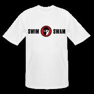T-Shirts ~ Men's Tall T-Shirt ~ SwimSwam Classic Men's Tall Tee (White)