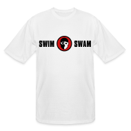 T-Shirts ~ Men's Tall T-Shirt ~ SwimSwam Classic Men's Tall Tee (White)