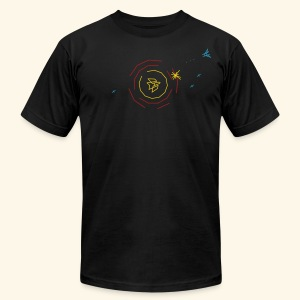 Spacecastle (free shirtcolor selection) - Men's T-Shirt by American Apparel