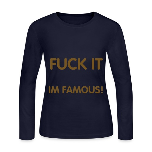 Fuck it (Gold Glitter) - Woman - Women's Long Sleeve Jersey T-Shirt