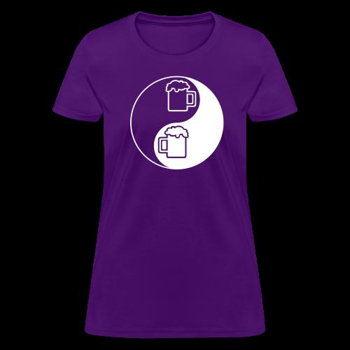 Yin-Yang Beer Mugs Women's T-Shirt - Women's T-Shirt
