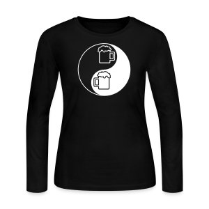 Yin-Yang Beer Mugs Women's Long Sleeve T-Shirt - Women's Long Sleeve Jersey T-Shirt