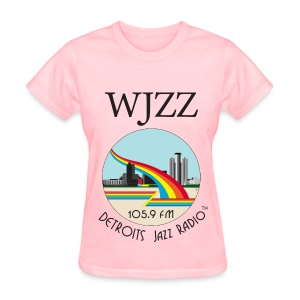 ON SALE!  WJZZ logo - Pretty in Pink - Women's T-Shirt