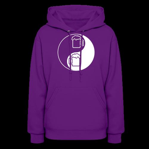 Yin-Yang Beer Mugs Women's Hooded Sweatshirt  - Women's Hoodie