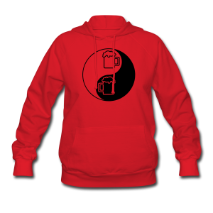 Yin-Yang Beer Mugs Women's Hooded Sweatshirt  - Women's Hoodie