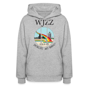 ON SALE!  WJZZ logo - Grey Detroit Winter Day - Women's Hoodie