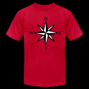 Wind Rose T-Shirt (Men) - Men's Fine Jersey T-Shirt