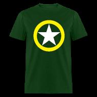 T-Shirts ~ Men's T-Shirt ~ Yellow Ring White Star National Symbol
