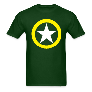 T-Shirts ~ Men's T-Shirt ~ Yellow Ring White Star National Symbol