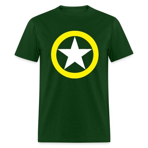 Yellow Ring White Star National Symbol - Men's T-Shirt