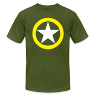 T-Shirts ~ Men's T-Shirt by American Apparel ~ Yellow Ring White Star National Symbol