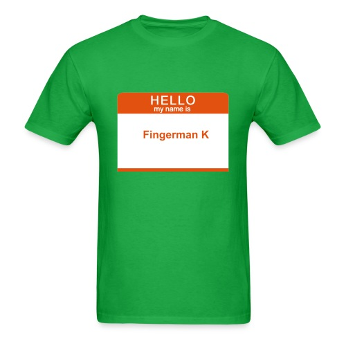 Hello My Name is Fingerman K - Men's T-Shirt
