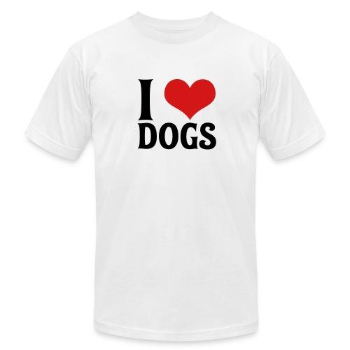 I love Dogs M - Men's Fine Jersey T-Shirt