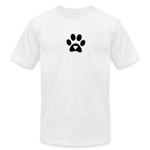 Footprint dog M - Men's Fine Jersey T-Shirt