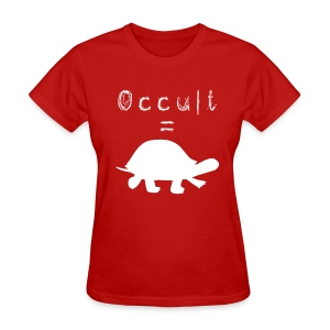 Womens Occult=Turtles T-Shirt - White Turtle - Women's T-Shirt