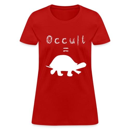 Womens Occult=Turtles T-Shirt - White Turtle - Women's T-Shirt