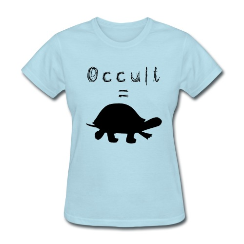 Womens Occult=Turtles T-Shirt - Black Turtle - Women's T-Shirt