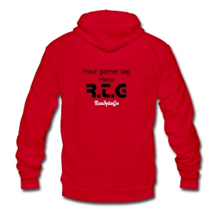 RTG Custom Hood. - Unisex Fleece Zip Hoodie by American Apparel
