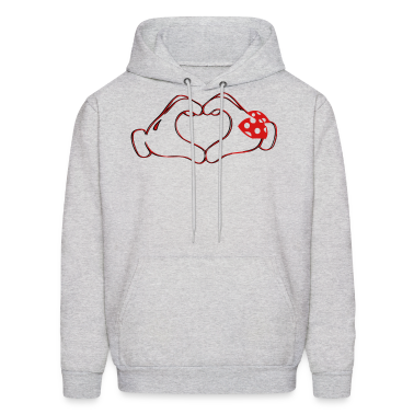 mickeys hand heart love Hoodies