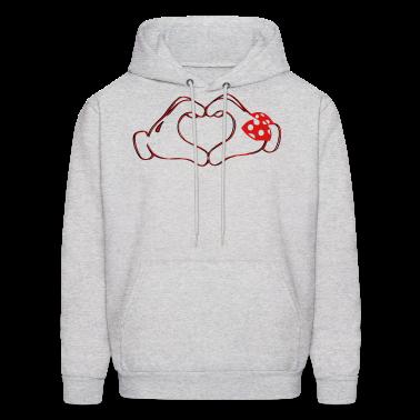 mickeys hand heart love Hoodies