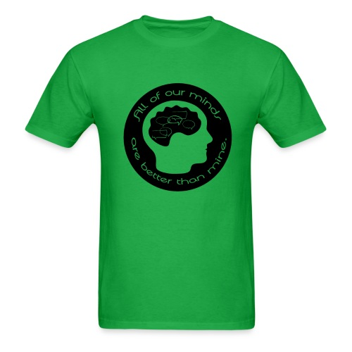 Mens All of Our Minds T-shirt - Black Logo - Men's T-Shirt
