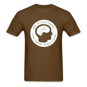 Mens All of Our Minds T-shirt - White Logo - Men's T-Shirt