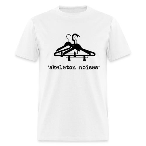 Mens Skeleton Noises T-Shirt - Black Letters - Men's T-Shirt
