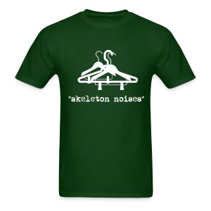 Mens Skeleton Noises T-Shirt - White Letters - Men's T-Shirt