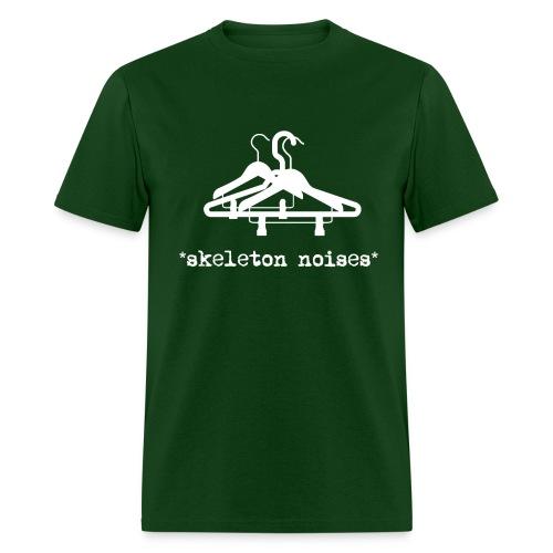 Mens Skeleton Noises T-Shirt - White Letters - Men's T-Shirt