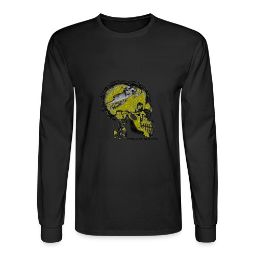 SLDHED LONG SLEEVE YLO/BLK - Men's Long Sleeve T-Shirt