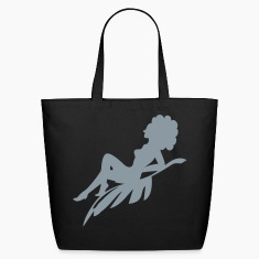 Afro Woman Sitting On Silhouette Bags & backpacks