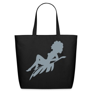 Women's Afro model silhouette Bag - Eco-Friendly Cotton Tote