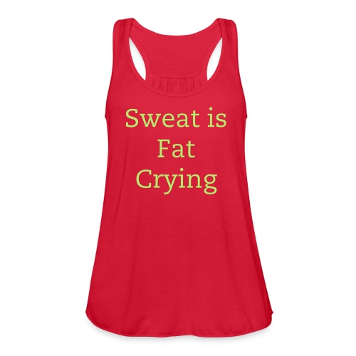 Crying - Women's Flowy Tank Top by Bella