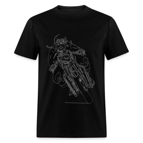 Men's T-Shirt - biker skull shirt