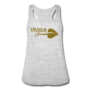 Vegan Leaf Women's Flowy Tank - Women's Flowy Tank Top by Bella