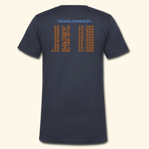 Scoretable4 (back- and frontprint) - Men's V-Neck T-Shirt by Canvas