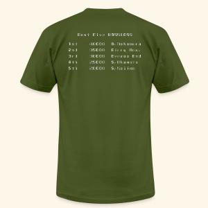 Scoretable6 (back- and frontprint) - Men's Fine Jersey T-Shirt