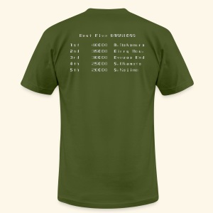 Scoretable6 (back- and frontprint) - Men's T-Shirt by American Apparel