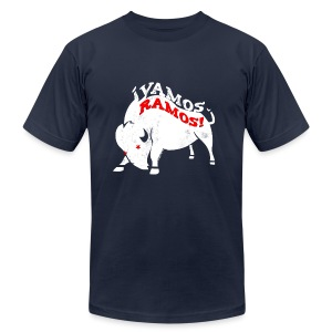 Vamos Ramos - Men's AA T White - Men's T-Shirt by American Apparel