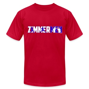 Zimmermen - Men's AA T White & Blue - Men's T-Shirt by American Apparel