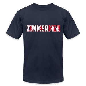Zimmermen - Men's AA T White & Red - Men's T-Shirt by American Apparel