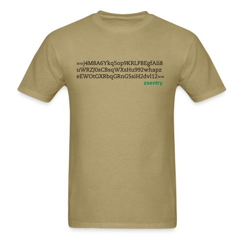 zsentry encryption - Men's T-Shirt