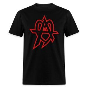 audiofilez red outline - Men's T-Shirt